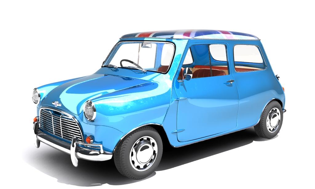 mini cooper 1959 3d model max fbx obj 210345