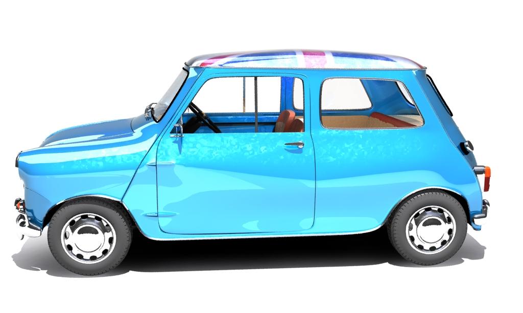 mini cooper 1959 3d model buy mini cooper 1959 3d model. Black Bedroom Furniture Sets. Home Design Ideas
