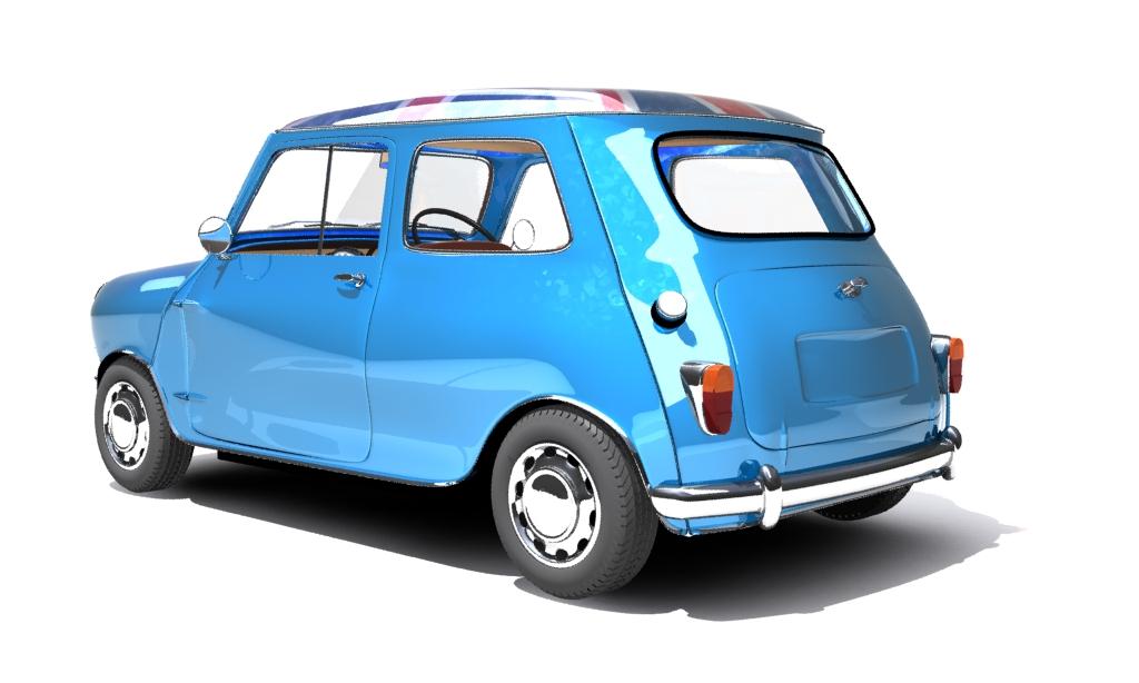 mini cooper 1959 3d model max fbx obj 210347