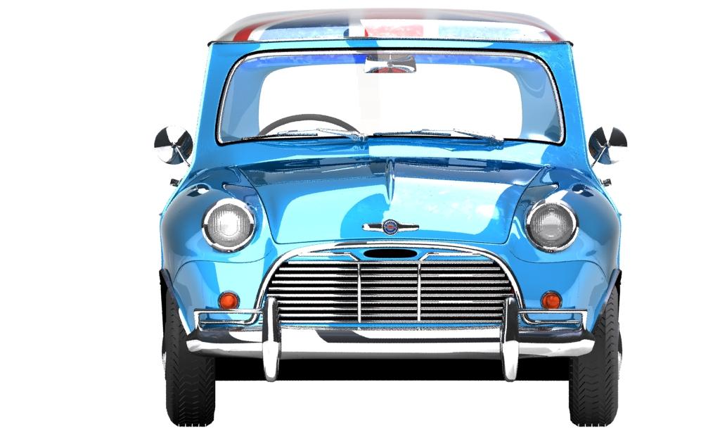 Mini Cooper 1959 3d model 0