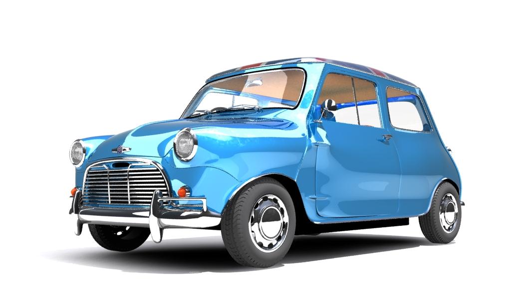 mini cooper 1959 3d model max fbx obj 210350