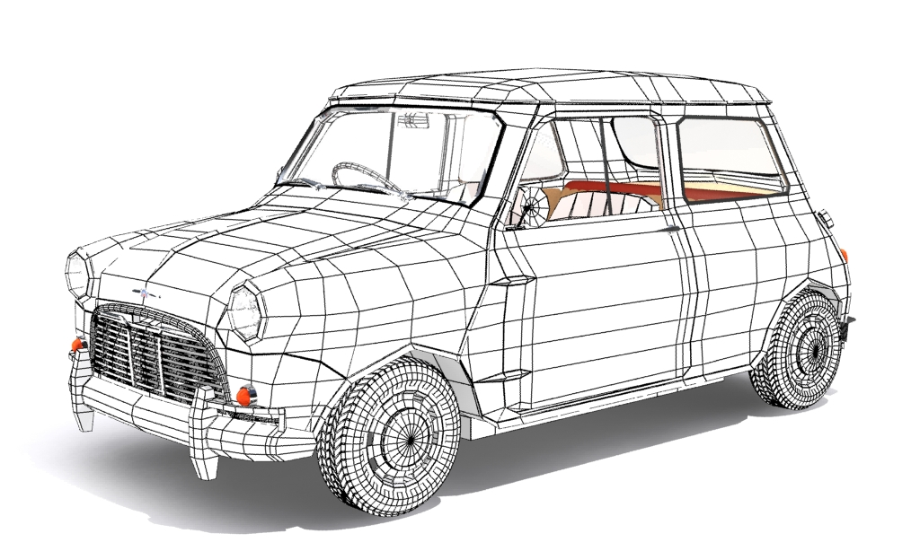 mini cooper 1959 3d model max fbx obj 210352