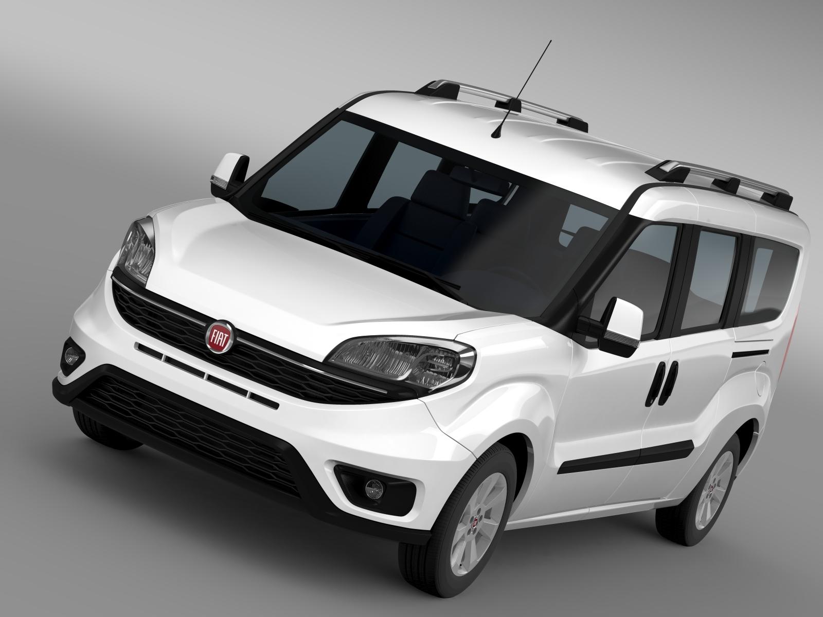 Fiat डब्लो मैक्सी (152) 2015 3d मॉडल 3ds अधिकतम fbx c4d lwo ma mb hrc xsi obj 210374