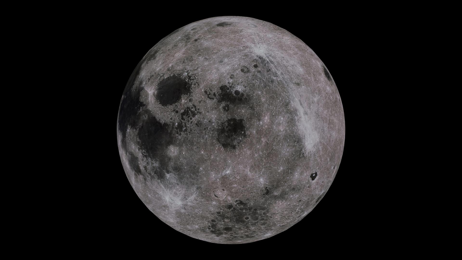moon 4k 3d model 3ds fbx blend dae obj 210482