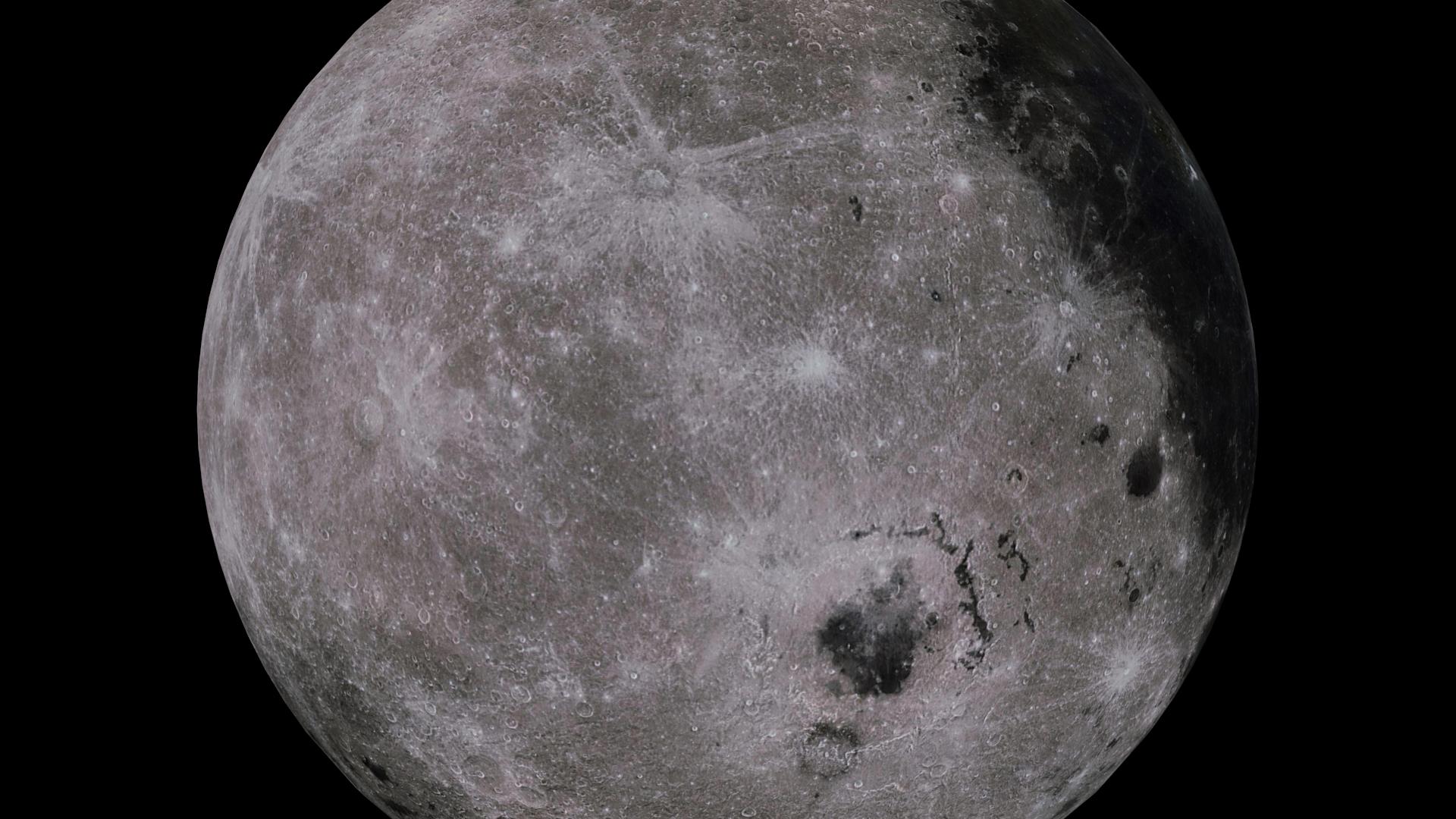 moon 4k 3d model 3ds fbx blend dae obj 210483