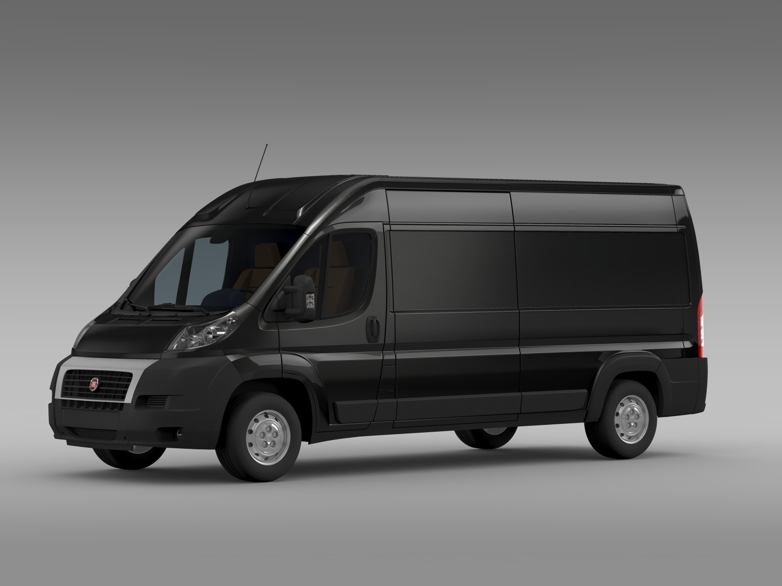 fiat ducato maxi van l3h2 2006 2014 3d model buy fiat. Black Bedroom Furniture Sets. Home Design Ideas