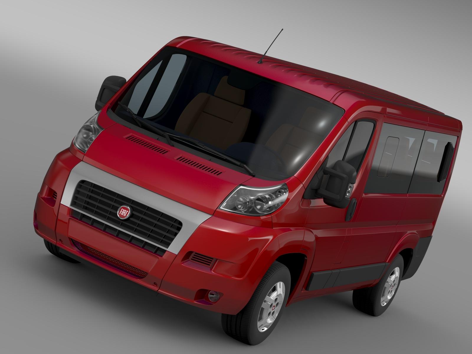 fiat ducato mini bus l1h1 2006-2014 3d model 3ds max fbx c4d lwo ma mb hrc xsi obj 210559