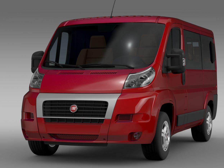 fiat ducato mini bus l1h1 2006-2014 3d model 3ds max fbx c4d lwo ma mb hrc xsi obj 210561