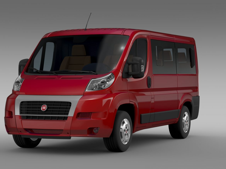 fiat ducato mini bus l1h1 2006-2014 3d model 3ds max fbx c4d lwo ma mb hrc xsi obj 210562