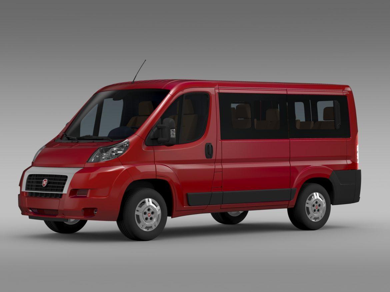 fiat ducato mini bus l1h1 2006-2014 3d model 3ds max fbx c4d lwo ma mb hrc xsi obj 210563