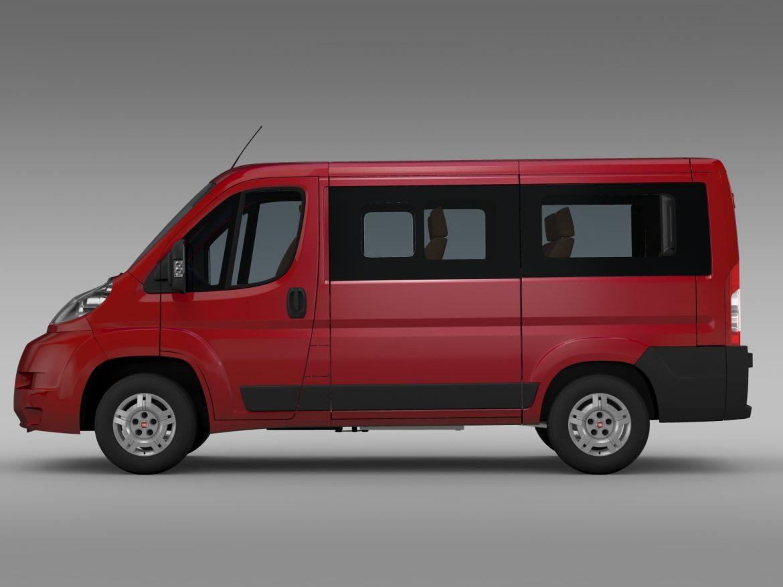 fiat ducato mini bus l1h1 2006-2014 3d model 3ds max fbx c4d lwo ma mb hrc xsi obj 210564