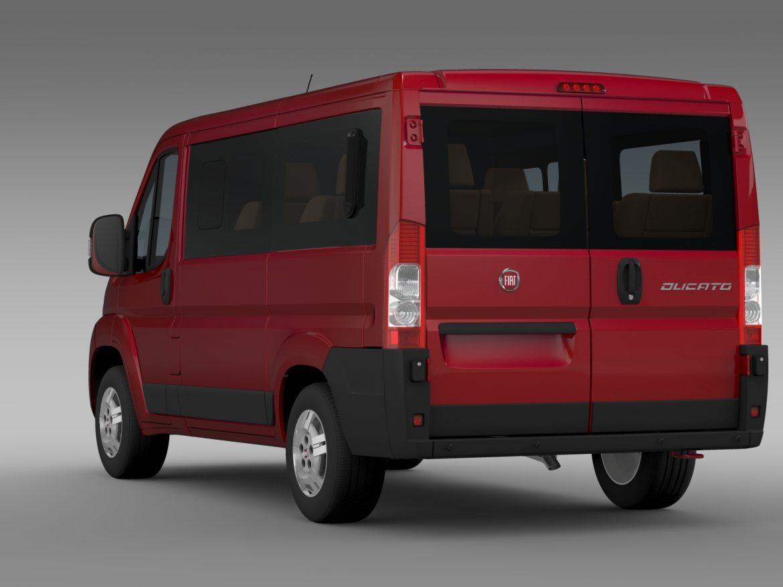 fiat ducato mini bus l1h1 2006-2014 3d model 3ds max fbx c4d lwo ma mb hrc xsi obj 210566