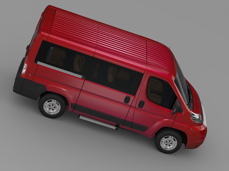 fiat ducato mini bus l1h1 2006-2014 3d model 3ds max fbx c4d lwo ma mb hrc xsi obj 210569