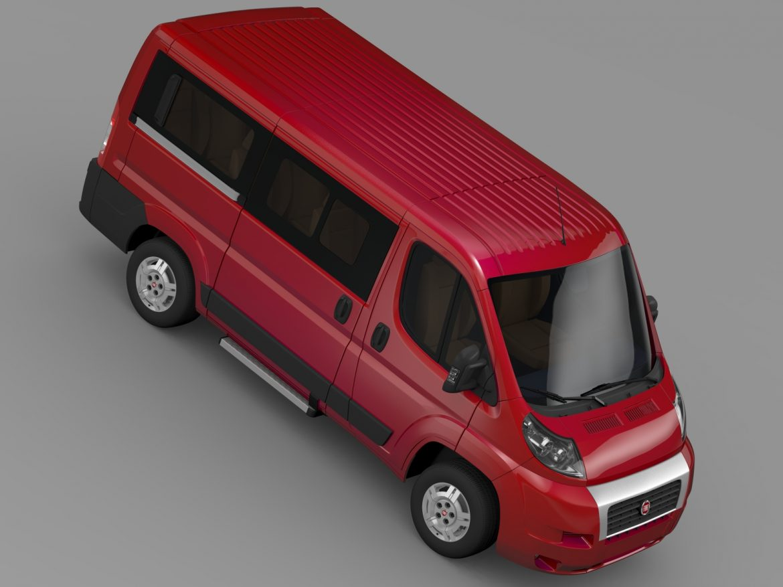 fiat ducato mini bus l1h1 2006-2014 3d model 3ds max fbx c4d lwo ma mb hrc xsi obj 210570