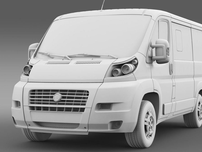 fiat ducato mini bus l1h1 2006-2014 3d model 3ds max fbx c4d lwo ma mb hrc xsi obj 210573