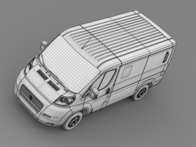 fiat ducato mini bus l1h1 2006-2014 3d model 3ds max fbx c4d lwo ma mb hrc xsi obj 210575