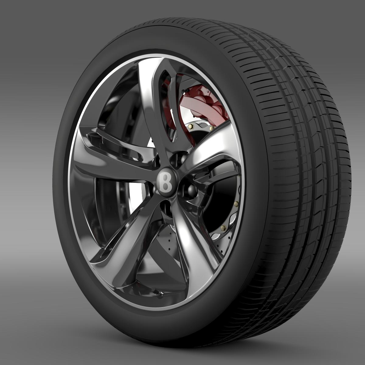bentley continental gt speed 2015 wheel 3d model 3ds max fbx c4d lwo ma mb hrc xsi obj 210579
