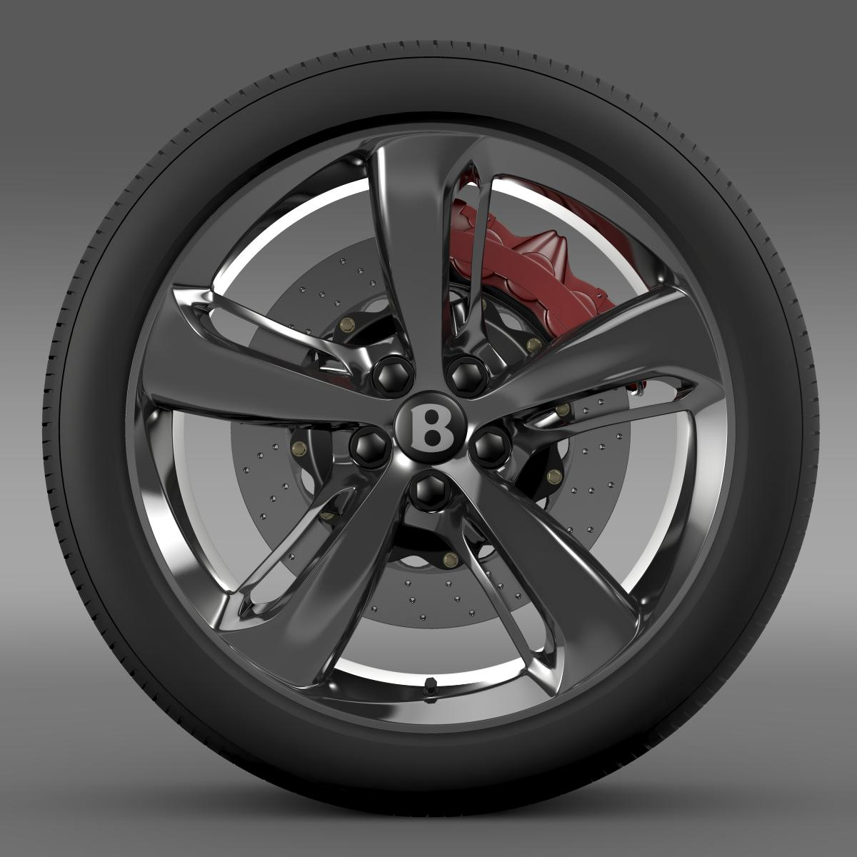 bentley continental gt speed 2015 wheel 3d model 3ds max fbx c4d lwo ma mb hrc xsi obj 210580