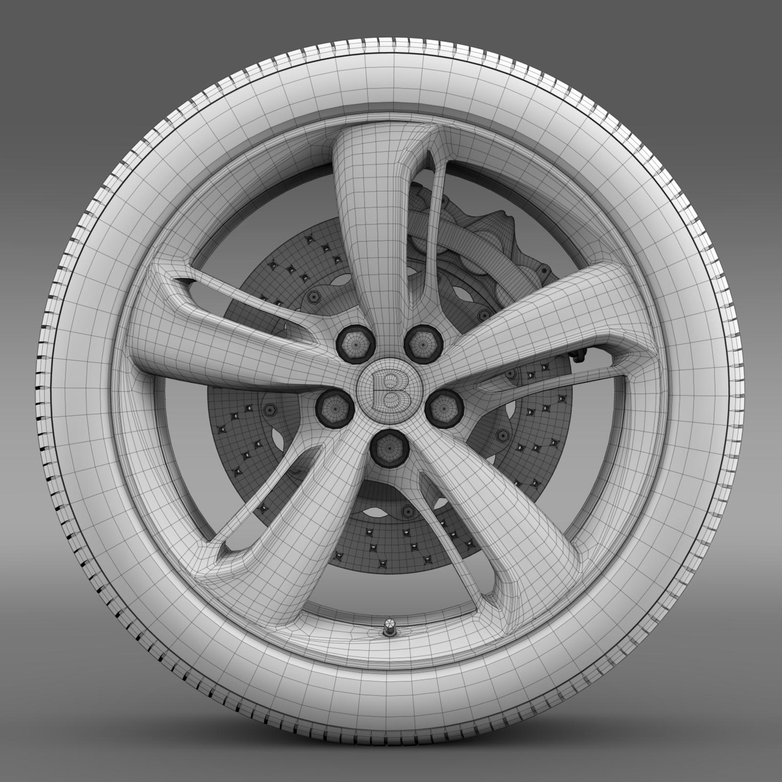 bentley continental gt speed 2015 wheel 3d model 3ds max fbx c4d lwo ma mb hrc xsi obj 210588