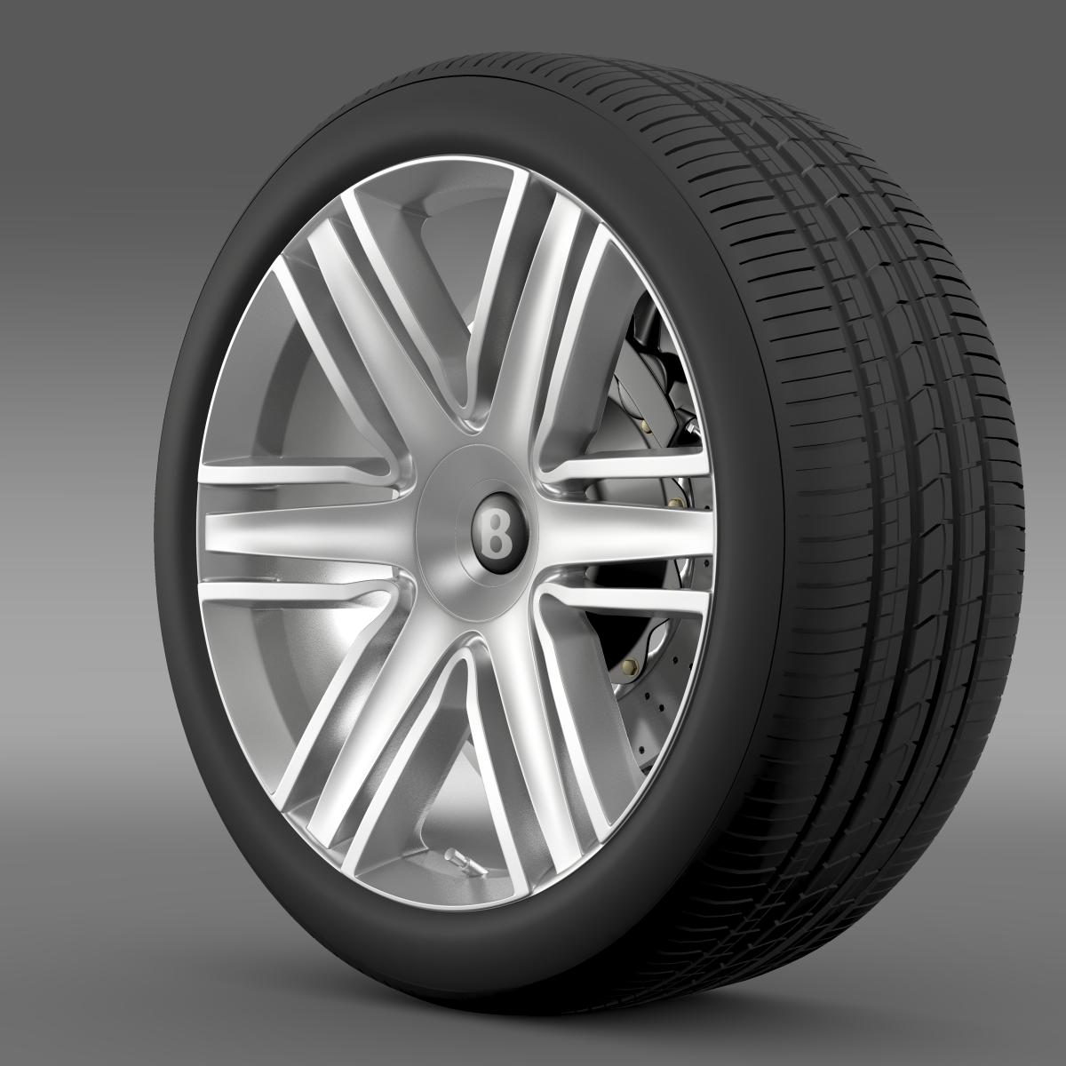 bentley continental gtc 2015 wheel 3d model 3ds max fbx c4d lwo ma mb hrc xsi obj 210611