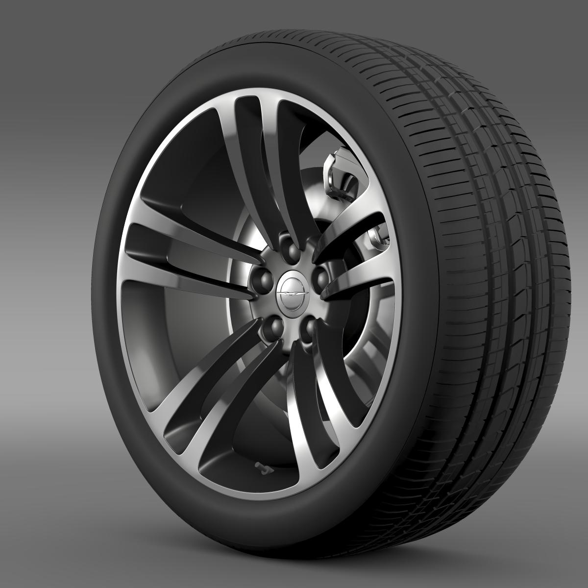 chrysler 300 srt8 core wheel 3d model 3ds max fbx c4d lwo ma mb hrc xsi obj 210626