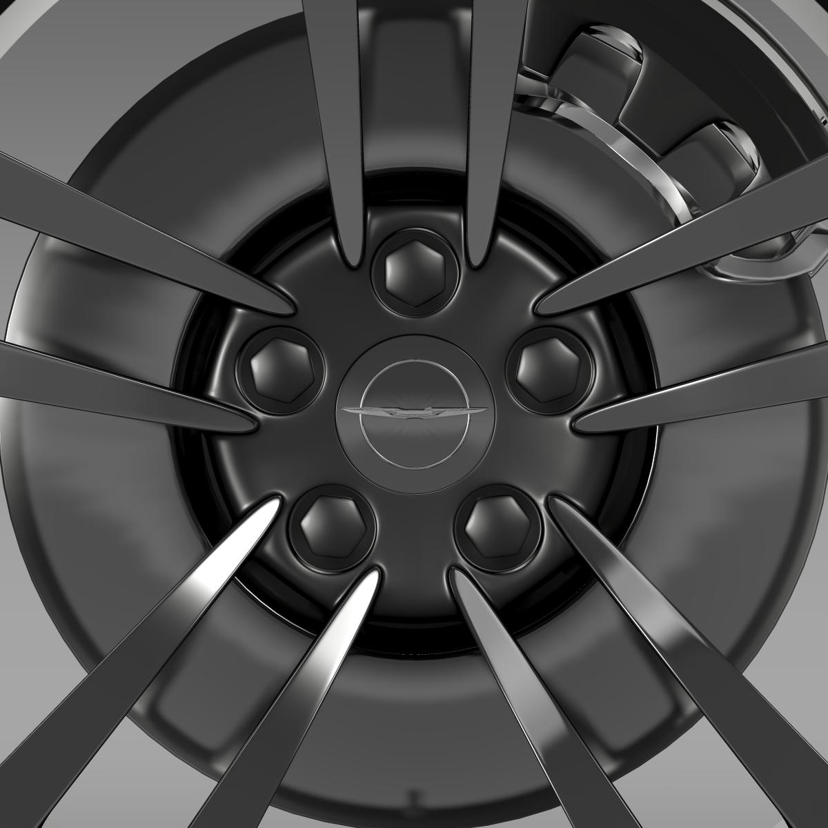 chrysler 300 srt8 core wheel 3d model 3ds max fbx c4d lwo ma mb hrc xsi obj 210630