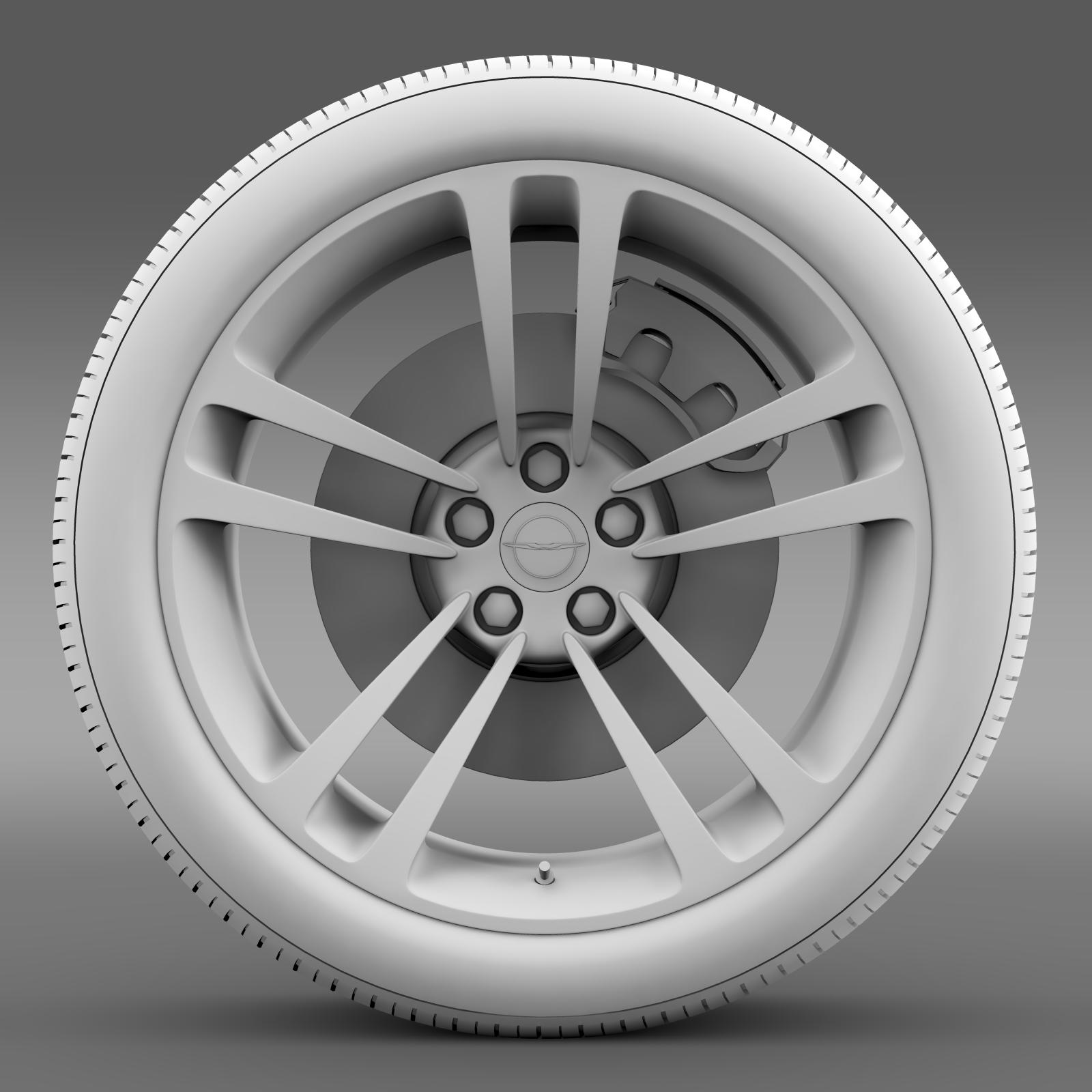 chrysler 300 srt8 core wheel 3d model 3ds max fbx c4d lwo ma mb hrc xsi obj 210633
