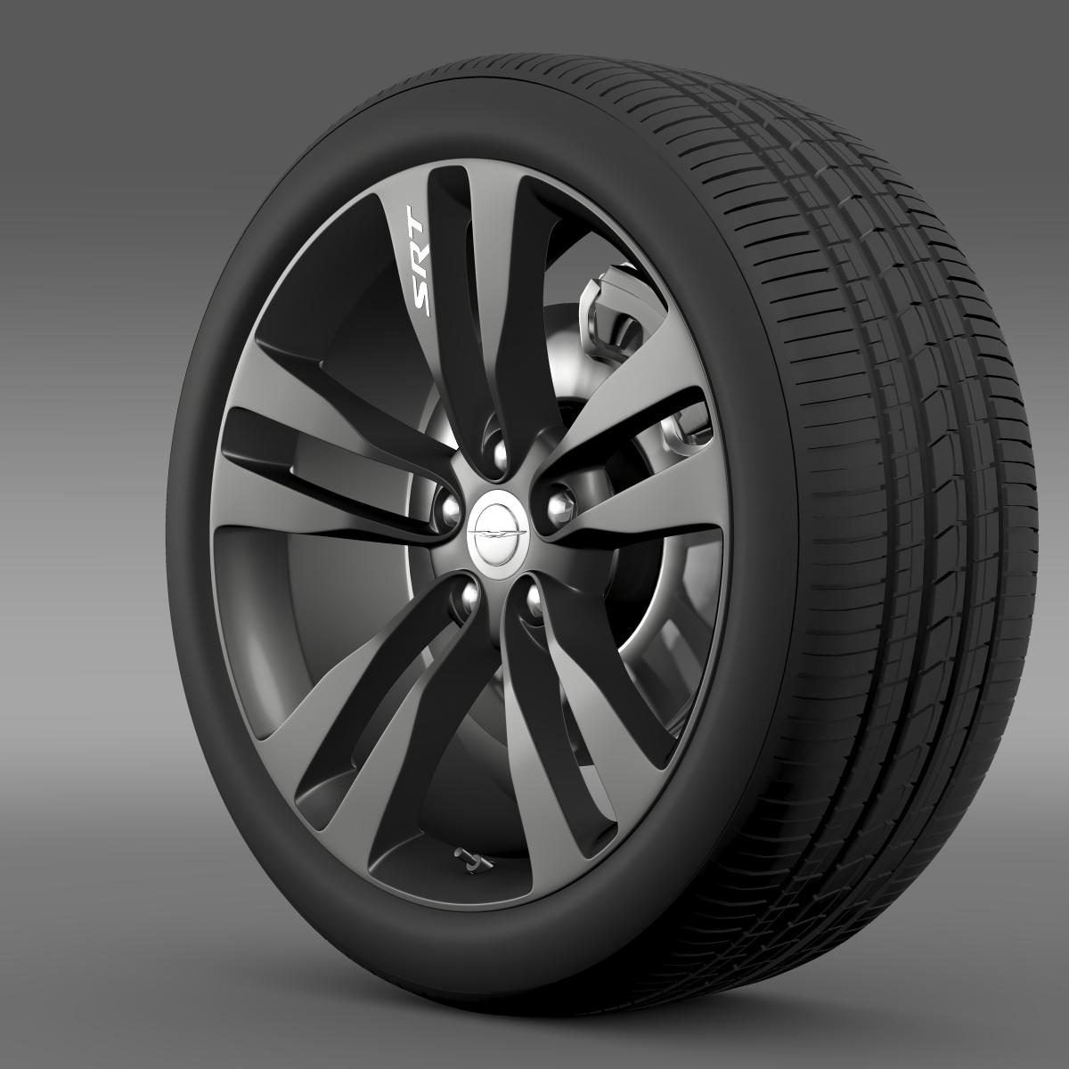 chrysler 300 srt8 satin vapor wheel 3d model 3ds max fbx c4d lwo ma mb hrc xsi obj 210640