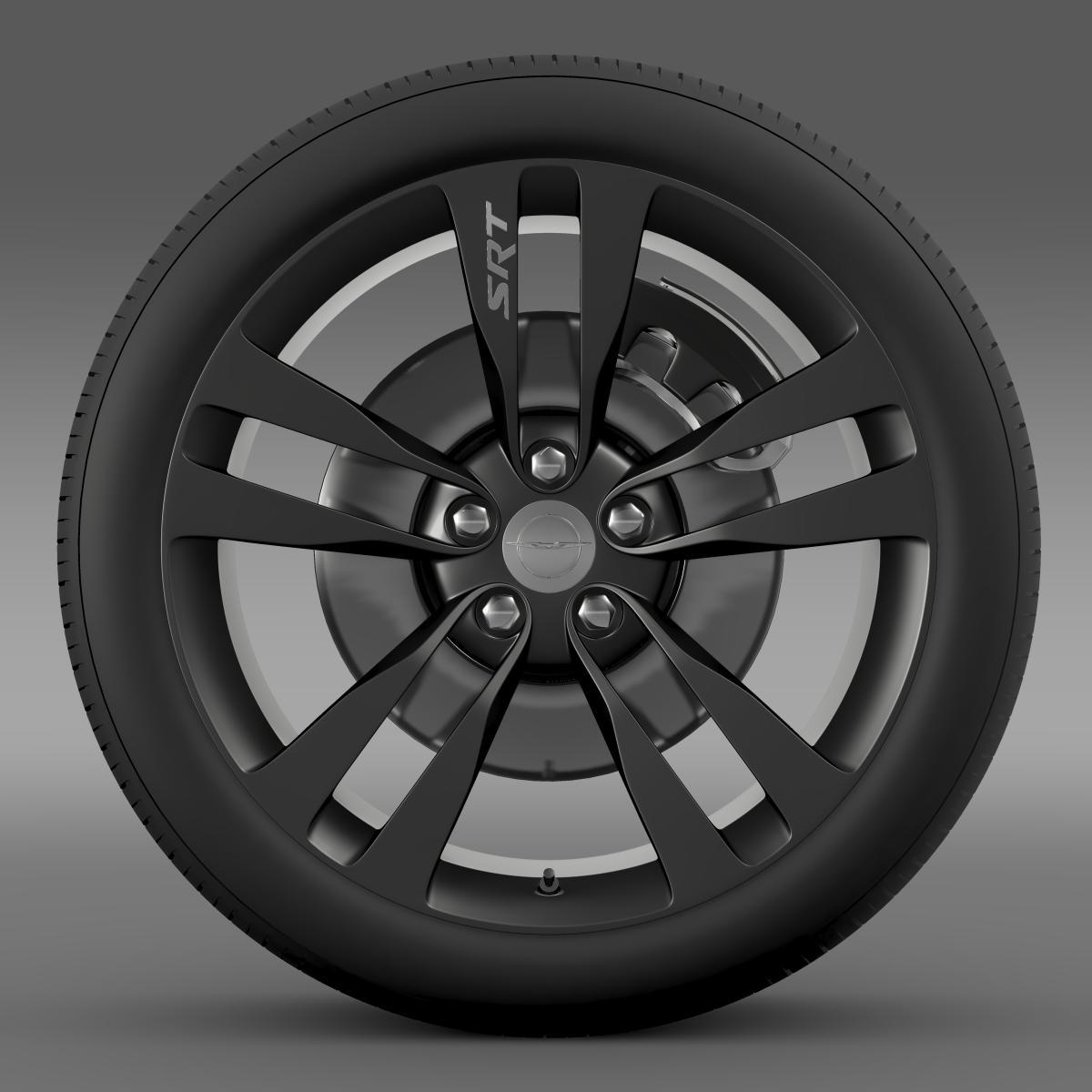 chrysler 300 srt8 satin vapor wheel 3d model 3ds max fbx c4d lwo ma mb hrc xsi obj 210641
