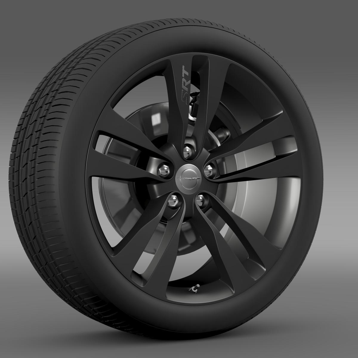 chrysler 300 srt8 satin vapor wheel 3d model 3ds max fbx c4d lwo ma mb hrc xsi obj 210642