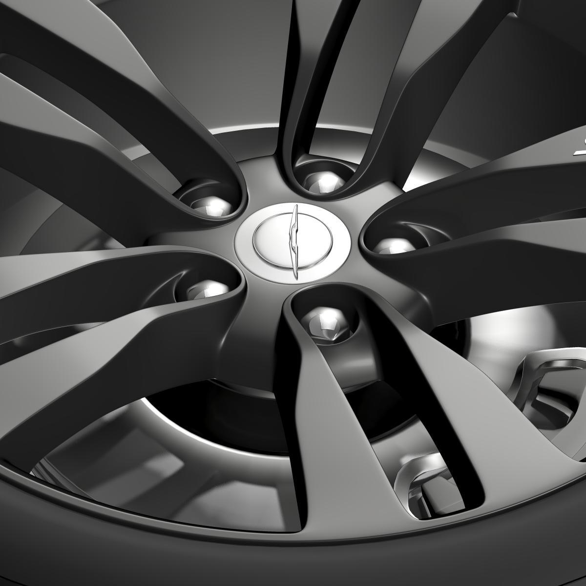 chrysler 300 srt8 satin vapor wheel 3d model 3ds max fbx c4d lwo ma mb hrc xsi obj 210643