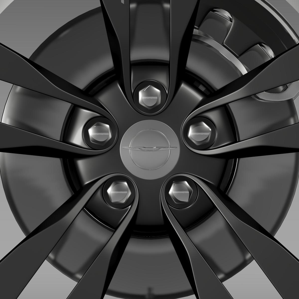 chrysler 300 srt8 satin vapor wheel 3d model 3ds max fbx c4d lwo ma mb hrc xsi obj 210644