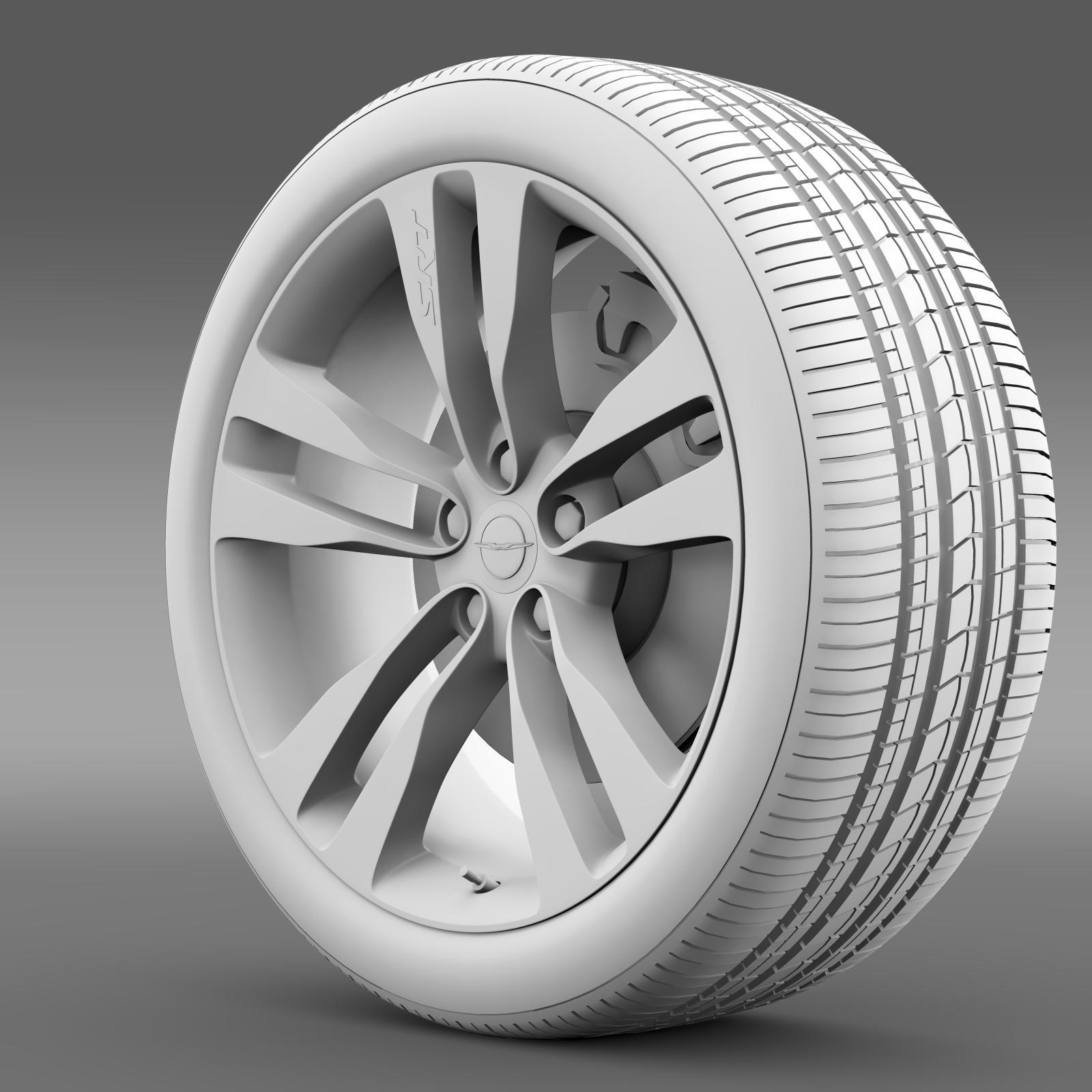 chrysler 300 srt8 satin vapor wheel 3d model 3ds max fbx c4d lwo ma mb hrc xsi obj 210646
