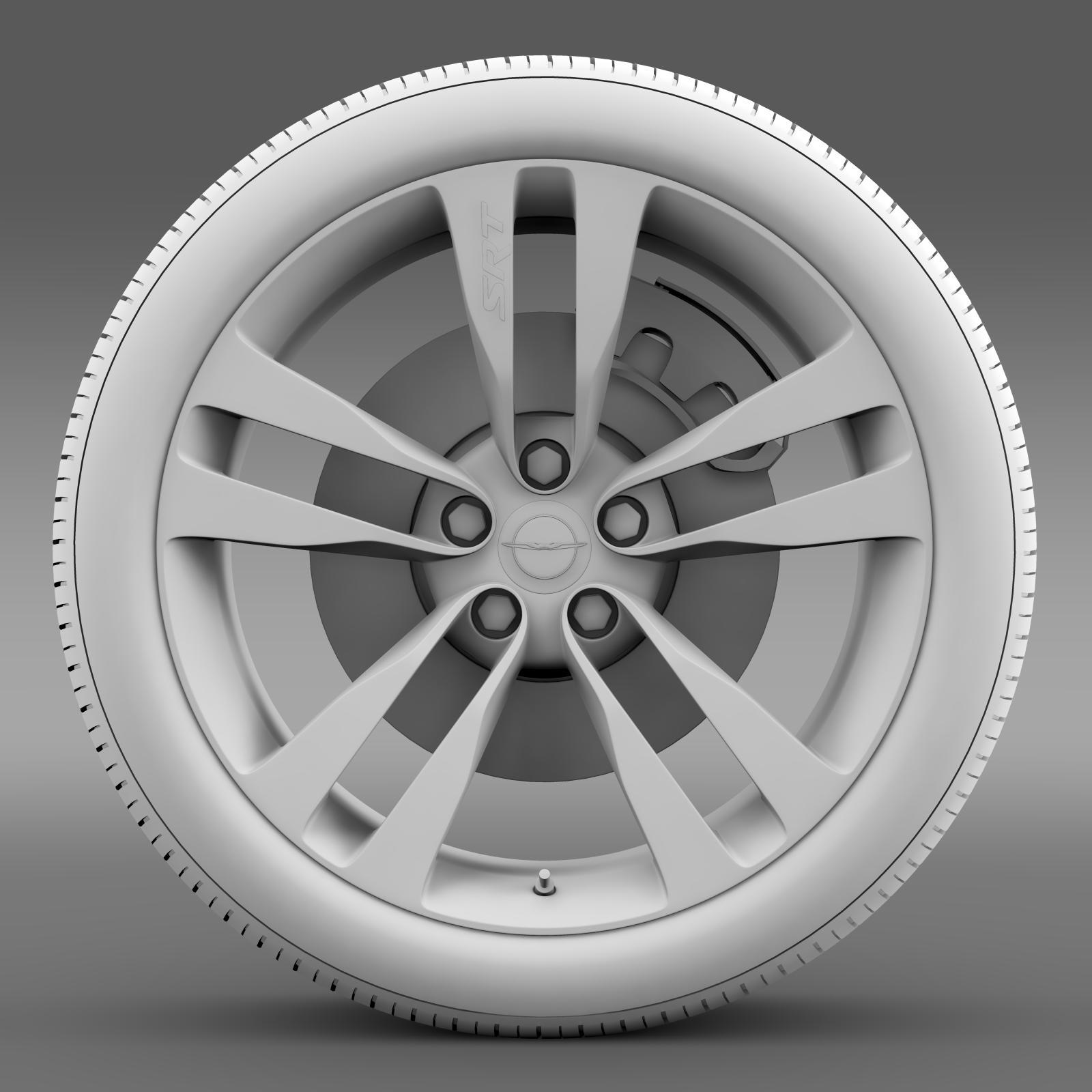 chrysler 300 srt8 satin vapor wheel 3d model 3ds max fbx c4d lwo ma mb hrc xsi obj 210647