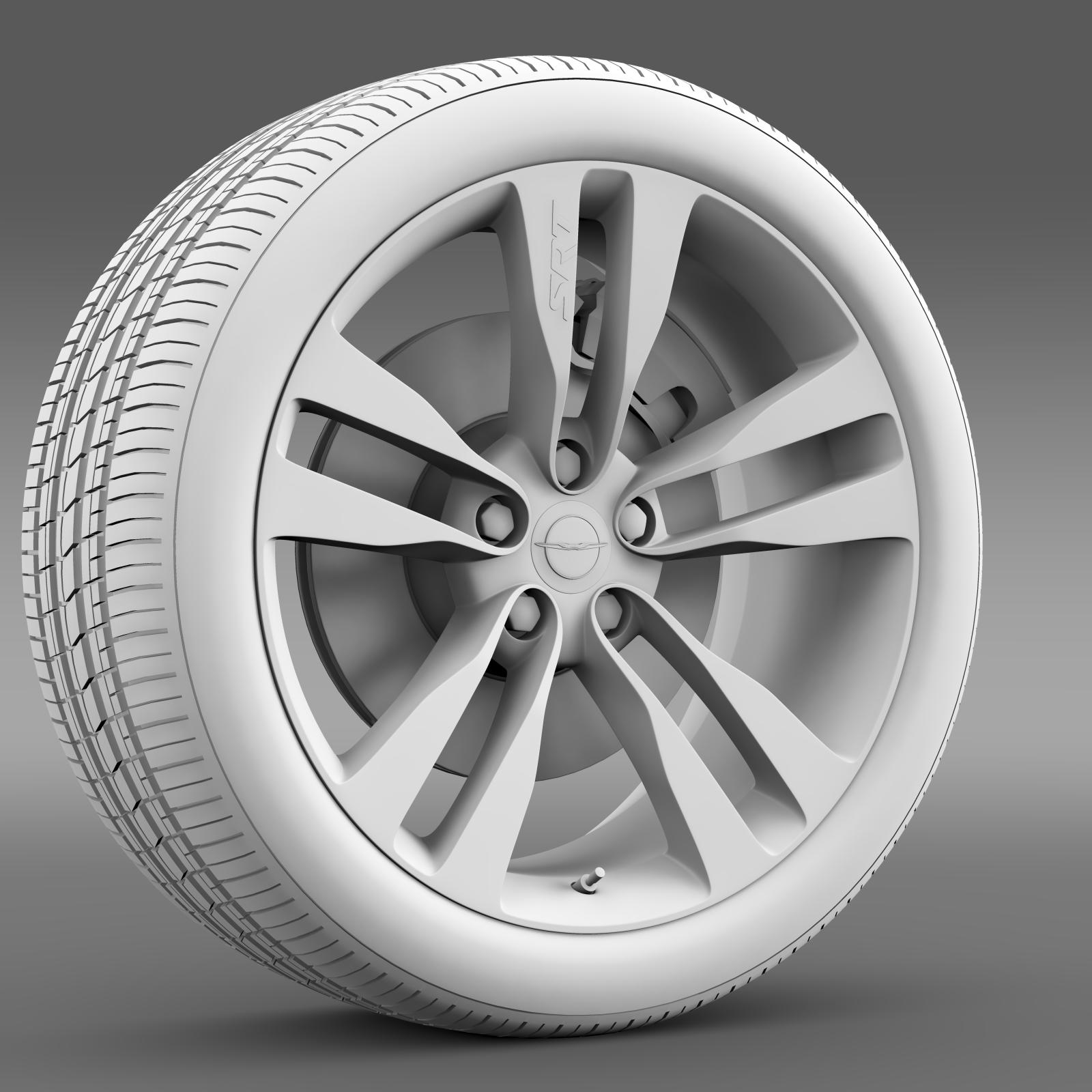 chrysler 300 srt8 satin vapor wheel 3d model 3ds max fbx c4d lwo ma mb hrc xsi obj 210648