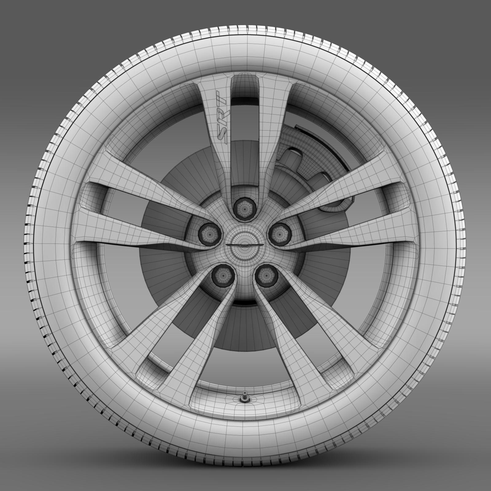 chrysler 300 srt8 satin vapor wheel 3d model 3ds max fbx c4d lwo ma mb hrc xsi obj 210649