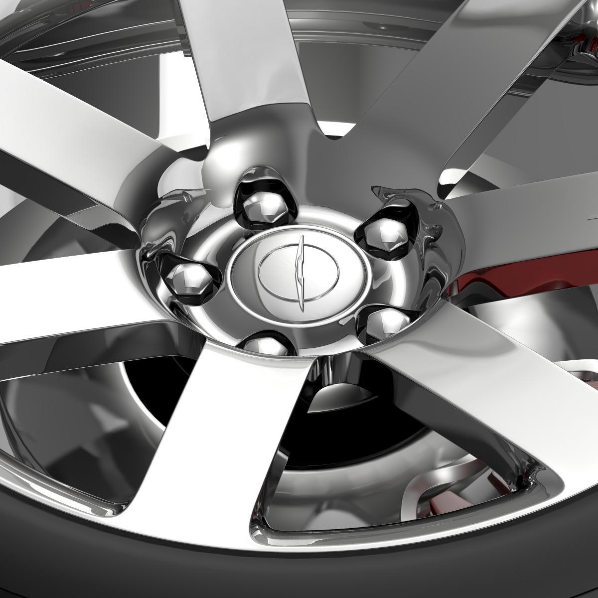 chrysler 300 srt8 wheel 3d model 3ds max fbx c4d lwo ma mb hrc xsi obj 210657
