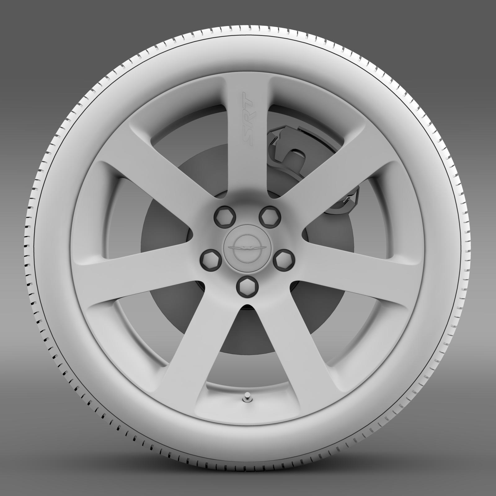 chrysler 300 srt8 wheel 3d model 3ds max fbx c4d lwo ma mb hrc xsi obj 210661
