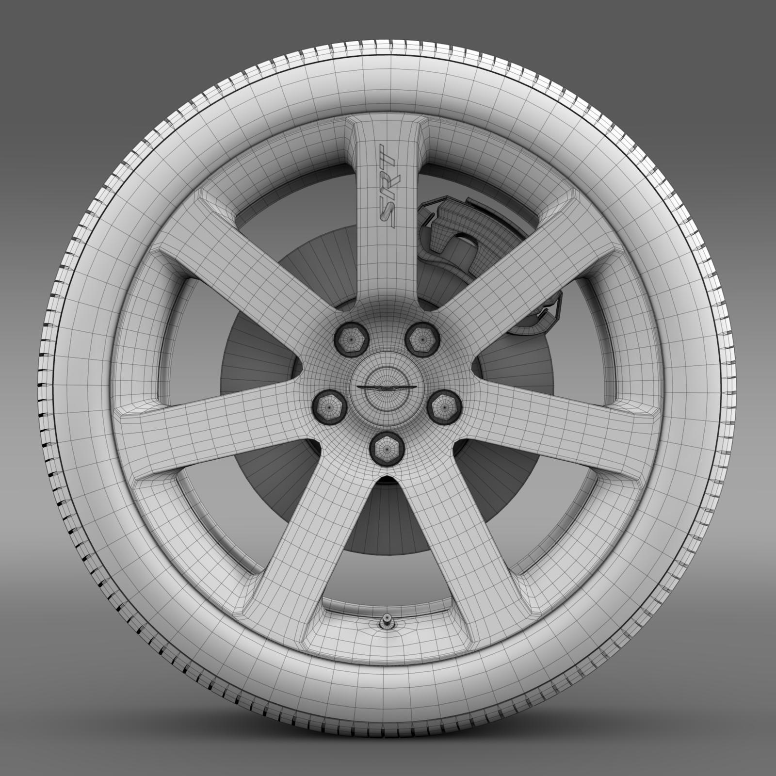 chrysler 300 srt8 wheel 3d model 3ds max fbx c4d lwo ma mb hrc xsi obj 210663