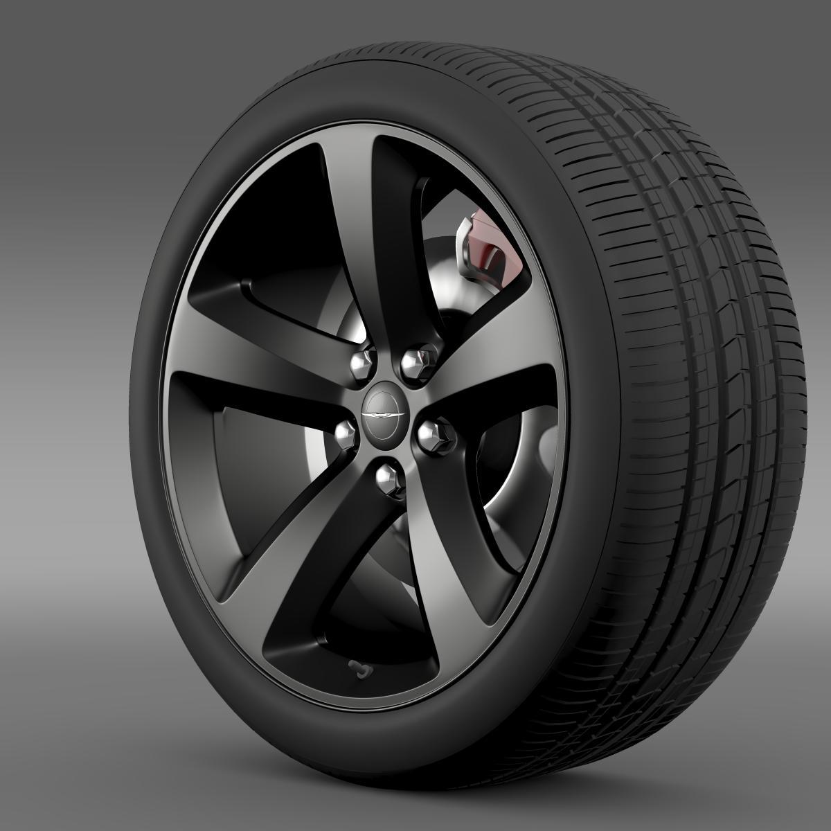 Chrysler 300s hjól 3d líkan 3ds hámark fbx c4d lwo mús hrb xsi obj 210668