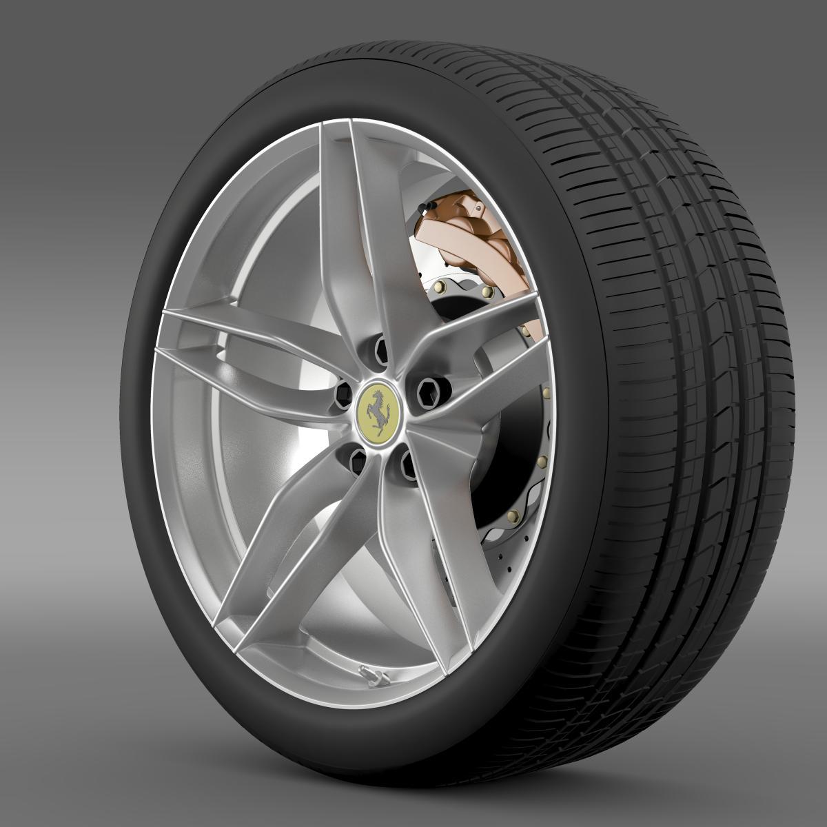 ferrari 488 gtb 2015 wheel 3d model 3ds max fbx c4d lwo ma mb hrc xsi obj 210682