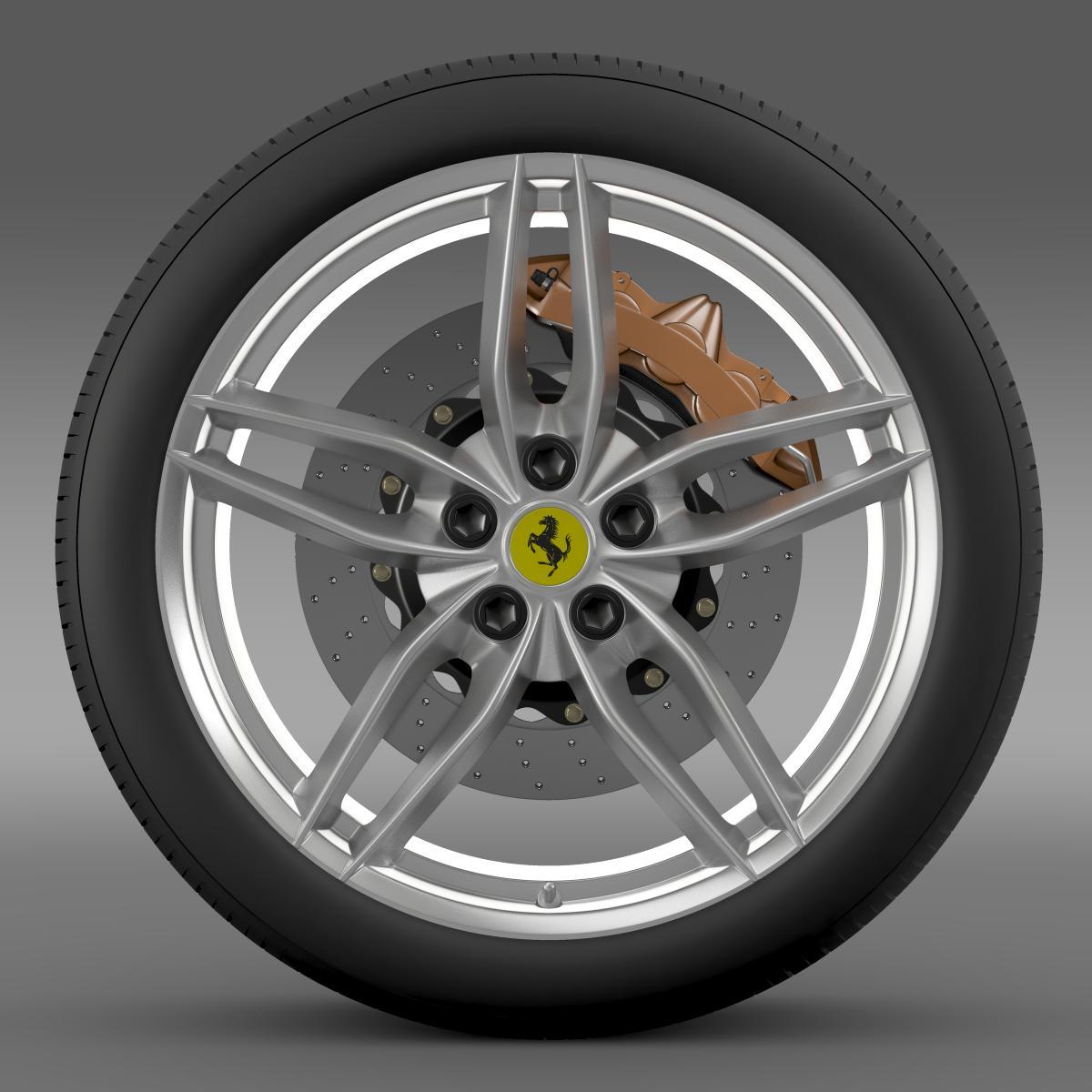 ferrari 488 gtb 2015 wheel 3d model 3ds max fbx c4d lwo ma mb hrc xsi obj 210683