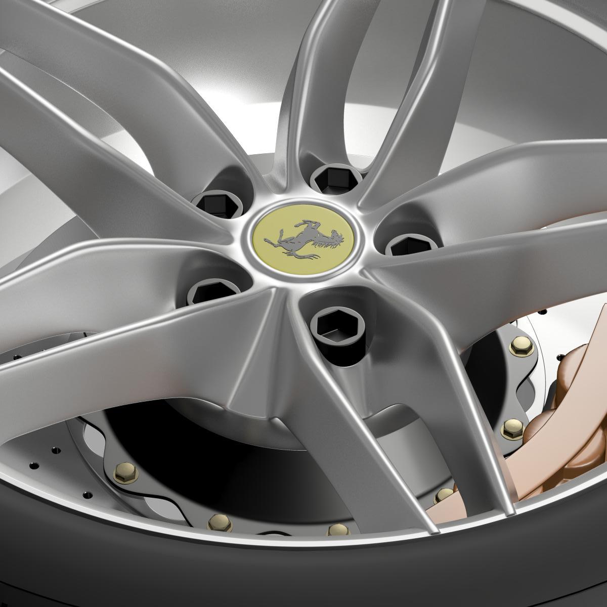 ferrari 488 gtb 2015 wheel 3d model 3ds max fbx c4d lwo ma mb hrc xsi obj 210685