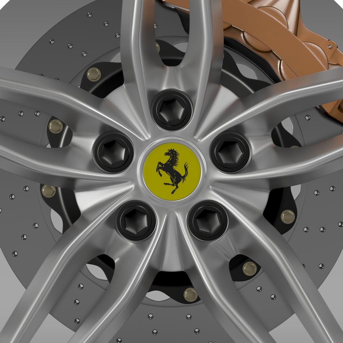 ferrari 488 gtb 2015 wheel 3d model 3ds max fbx c4d lwo ma mb hrc xsi obj 210686
