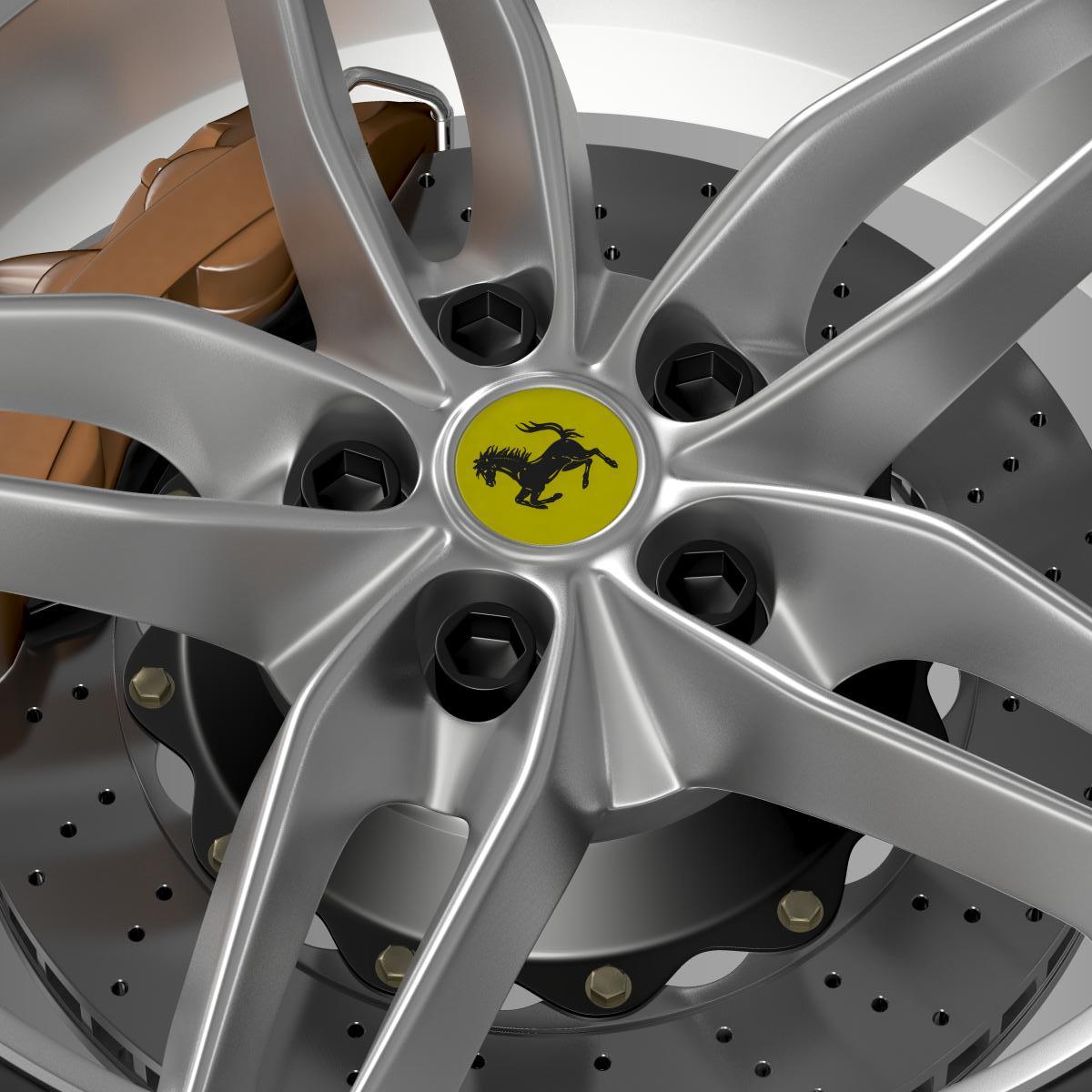 ferrari 488 gtb 2015 wheel 3d model 3ds max fbx c4d lwo ma mb hrc xsi obj 210687