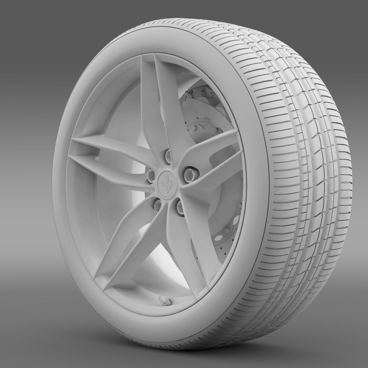 ferrari 488 gtb 2015 wheel 3d model 3ds max fbx c4d lwo ma mb hrc xsi obj 210688