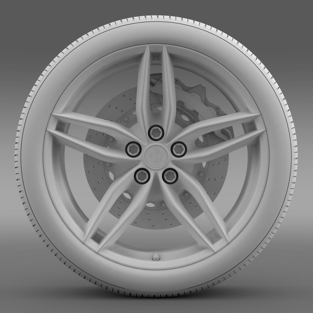 ferrari 488 gtb 2015 wheel 3d model 3ds max fbx c4d lwo ma mb hrc xsi obj 210689
