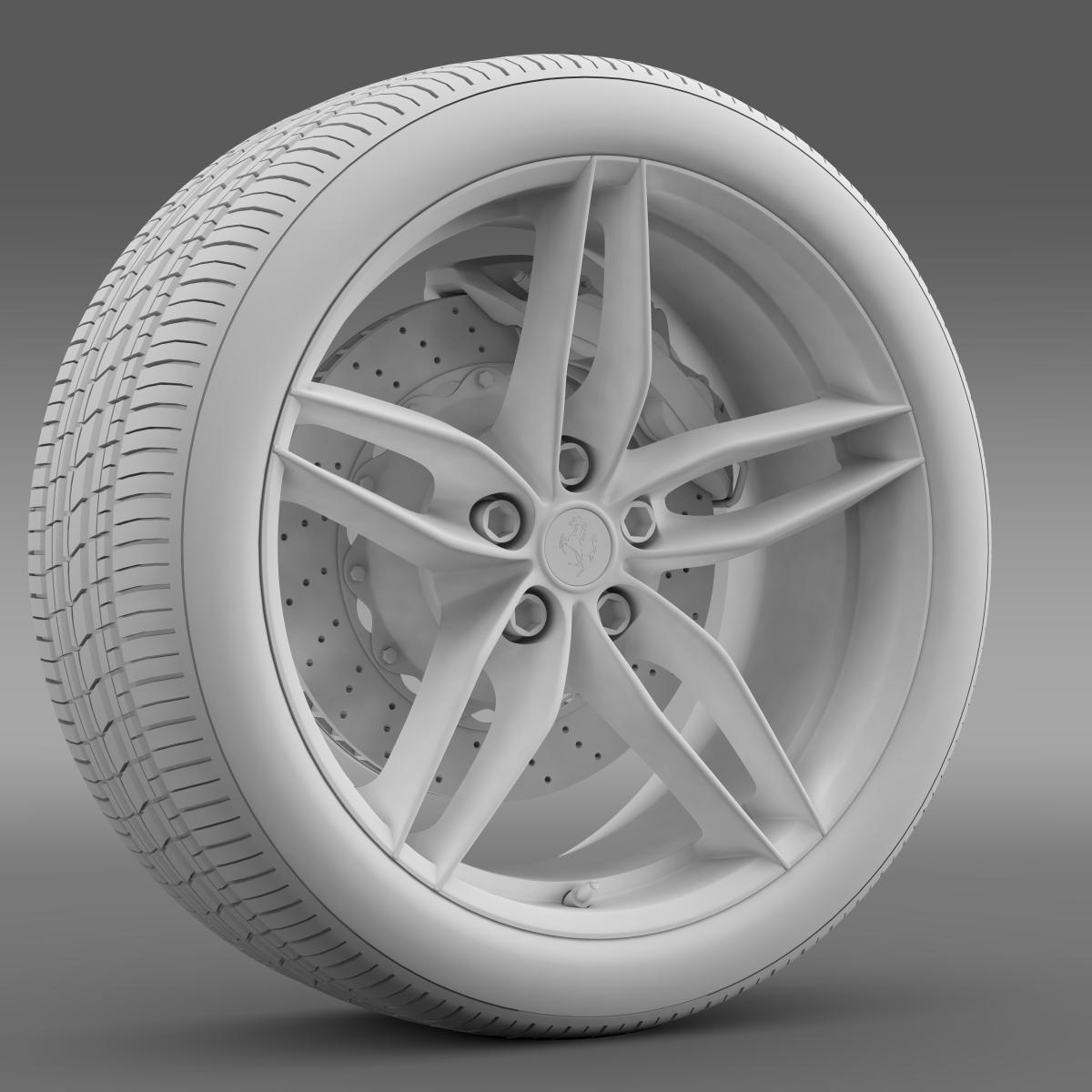ferrari 488 gtb 2015 wheel 3d model 3ds max fbx c4d lwo ma mb hrc xsi obj 210690
