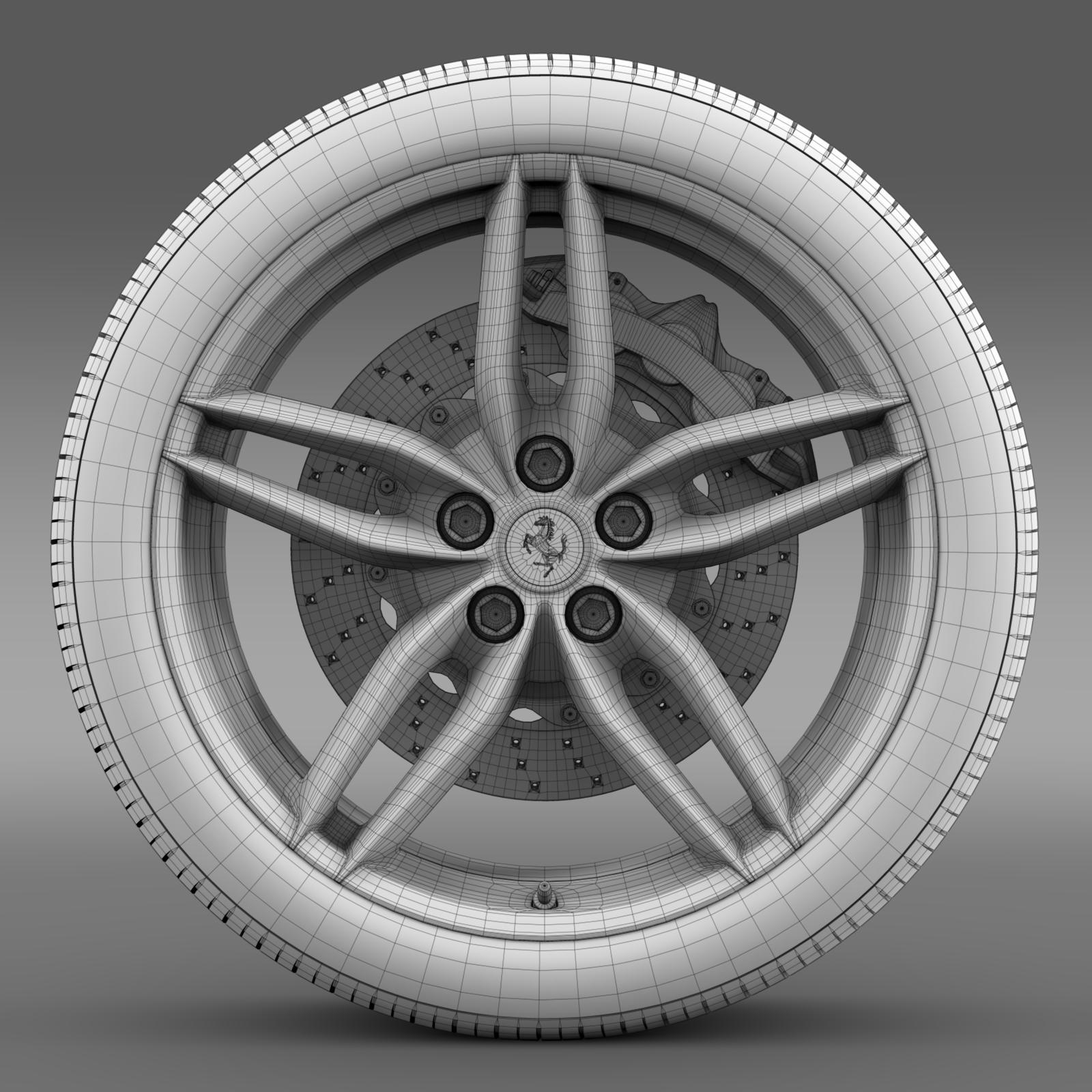 ferrari 488 gtb 2015 wheel 3d model 3ds max fbx c4d lwo ma mb hrc xsi obj 210691