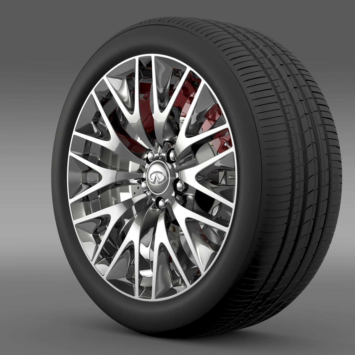 infinity ml wheel 3d model 3ds max fbx c4d lwo ma mb hrc xsi obj 210697